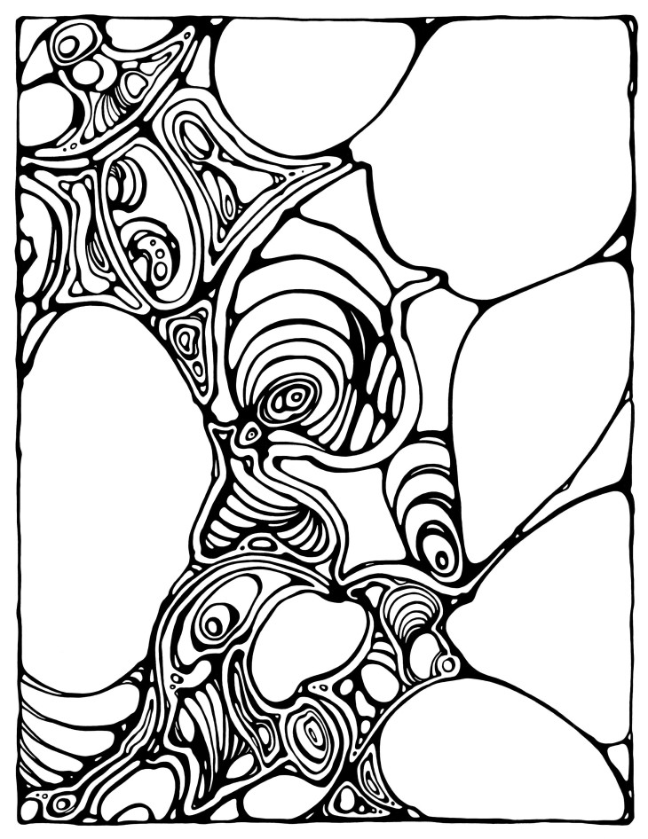 modern art coloring pages | Colorganic: A Coloring Book of Organic Shapes and Forms ...