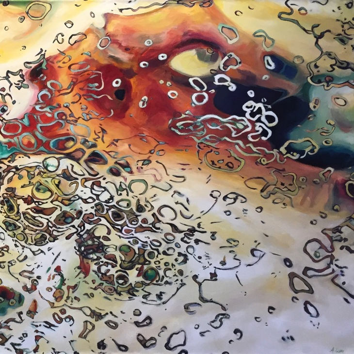 Abstract art painting, titled Skloitch, by Angie Lister