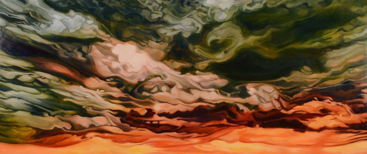 -angie-lister-abstract-art-painting-sunset-in-green-and-orange.jpg